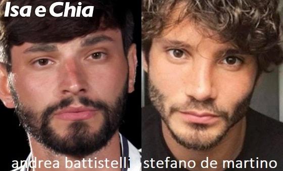 Somiglianza tra Andrea Battistelli e Stefano De Martino