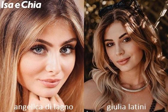 Somiglianza tra Angelica Di Lagno e Giulia Latini
