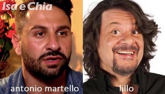 Somiglianza tra Antonio Martello e Lillo