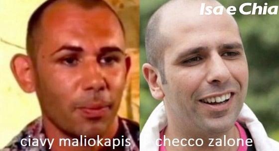 Somiglianza tra Ciavy Maliokapis e Checco Zalone