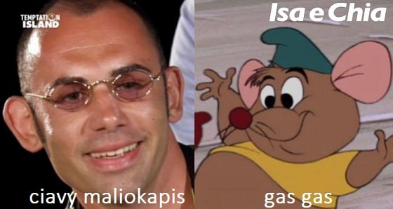 Somiglianza tra Ciavy Maliokapis e Gas Gas