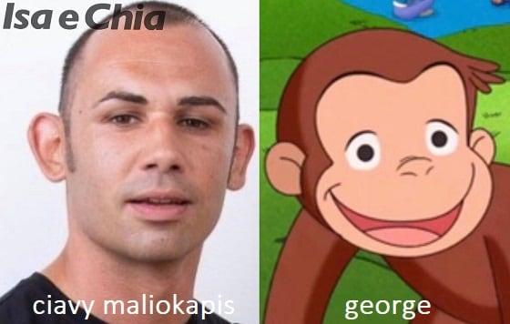 Somiglianza tra Ciavy Maliokapis e George