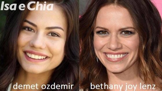 Somiglianza tra Demet Ozdemir e Bethany Joy Lenz