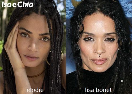 Somiglianza tra Elodie e Lisa Bonet