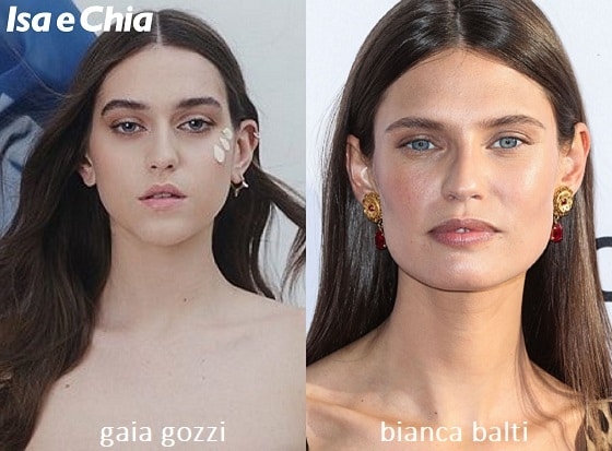 Somiglianza tra Gaia Gozzi e Bianca Balti