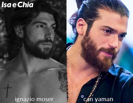 Somiglianza tra Ignazio Moser e Can Yaman