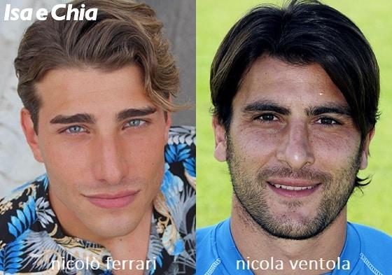 Somiglianza tra Nicolò Ferrari e Nicola Ventola