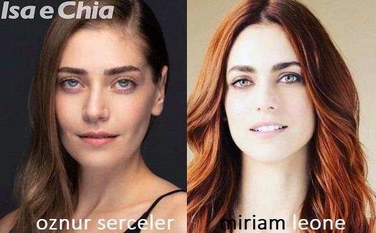 Somiglianza tra Oznur Serceler e Miriam Leone