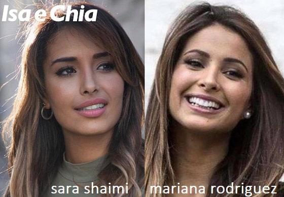 Somiglianza tra Sara Shaimi e Mariana Rodriguez