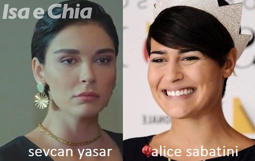 Somiglianza tra Sevcan Yaşar e Alice Sabatini