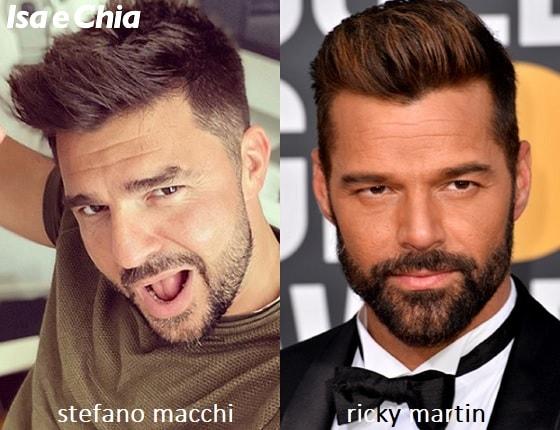 Somiglianza tra Stefano Macchi e Ricky Martin