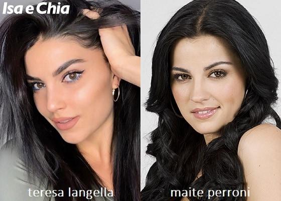 Somiglianza tra Teresa Langella e Maite Perroni