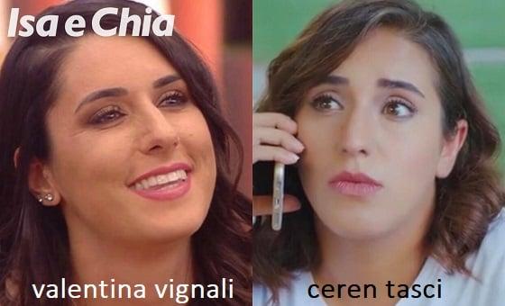 Somiglianza tra Valentina Vignali e Ceren Tasci