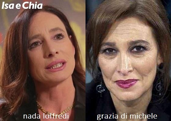 Somiglianza tra Grazia Di Michele e Nada Loffredi di 'Matrimonio a prima vista'