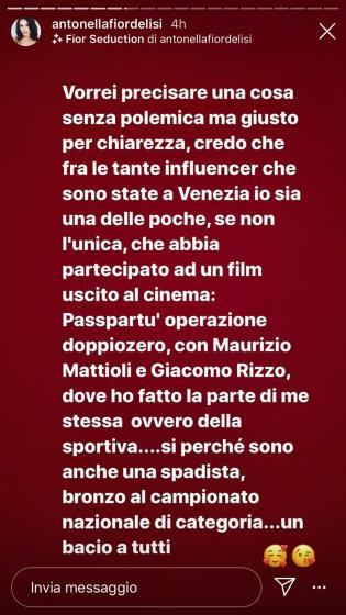 Instagram Story Antonella