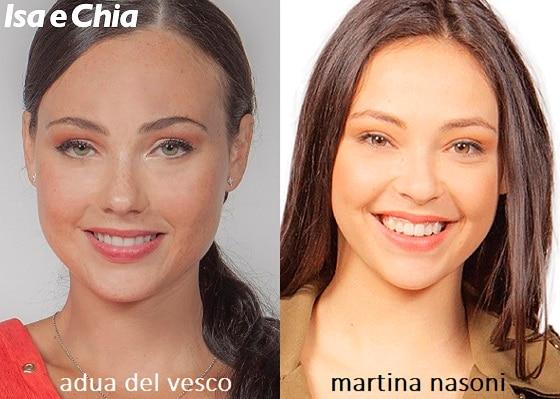 Somiglianza tra Adua Del Vesco e Martina Nasoni