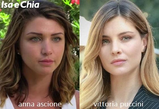 Somiglianza tra Anna Ascione e Vittoria Puccini