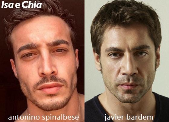Somiglianza tra Antonino Spinalbese e Javier Bardem
