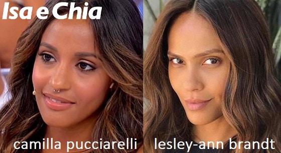 Somiglianza tra Camilla Pucciarelli e Lesley-Ann Brandt