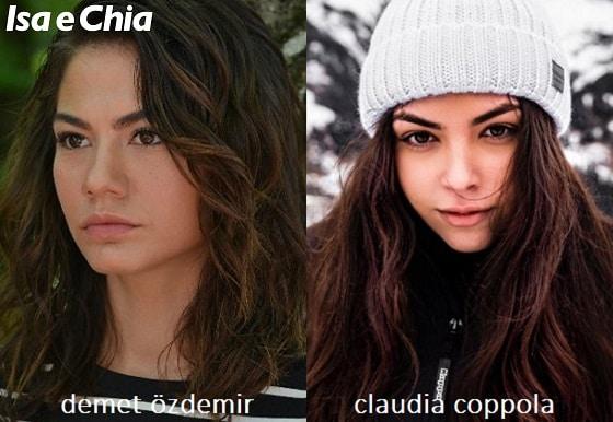 Somiglianza tra Claudia Coppola e Demet Özdemir di 'Daydreamer'