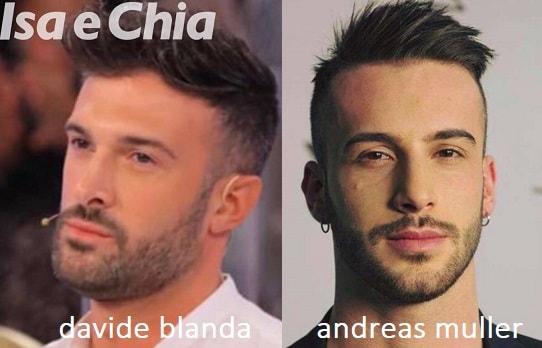 Somiglianza tra Davide Blanda e Andreas Muller