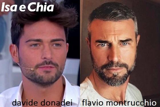Somiglianza tra Davide Donadei e Flavio Montrucchio