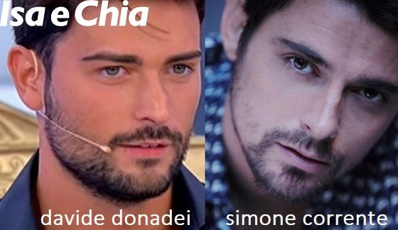 Somiglianza tra Davide Donadei e Simone Corrente