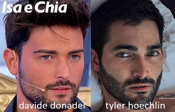 Somiglianza tra Davide Donadei e Tyler Hoechlin