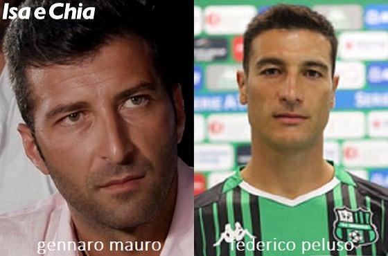 Somiglianza tra Gennaro Mauro e Federico Peluso