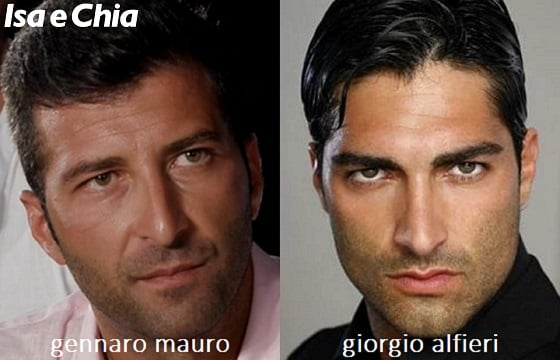 Somiglianza tra Gennaro Mauro e Giorgio Alfieri