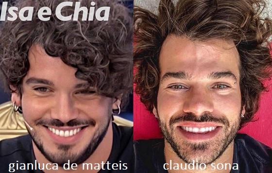 Somiglianza tra Gianluca De Matteis e Claudio Sona