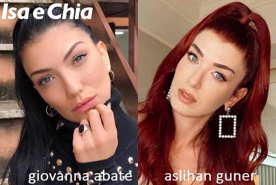 Somiglianza tra Giovanna Abate e Aslihan Guner