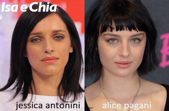 Somiglianza tra Jessica Antonini e Alice Pagani
