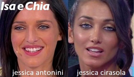 Somiglianza tra Jessica Antonini e Jessica Cirasola