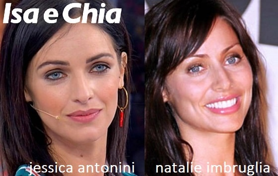 Somiglianza tra Jessica Antonini e Natalie Imbruglia