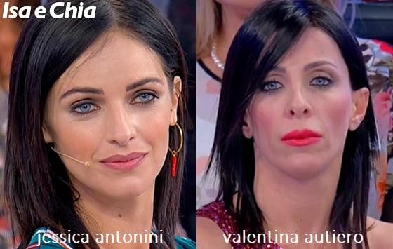 Somiglianza tra Jessica Antonini e Valentina Autiero
