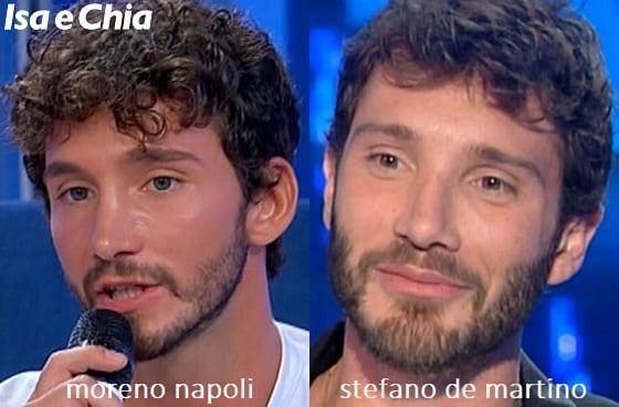 Somiglianza tra Moreno Napoli, corteggiatore di 'Uomini e Donne', e Stefano De Martina