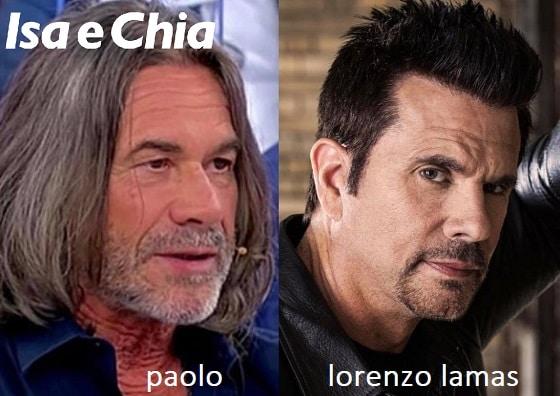 Somiglianza tra Paolo e Lorenzo Lamas
