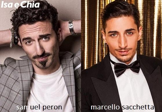 Somiglianza tra Samuel Peron e Marcello Sacchetta