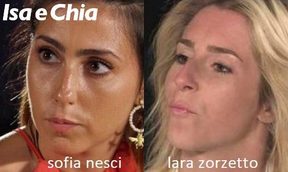 Somiglianza tra Sofia Nesci e Lara Zorzetto