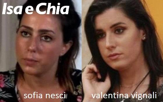 Somiglianza tra Sofia Nesci e Valentina Vignali