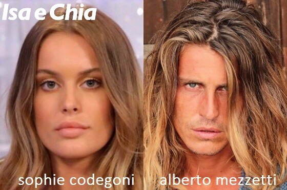 Somiglianza tra Sophie Codegoni e Alberto Mezzetti