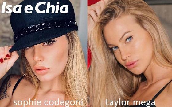 Somiglianza tra Sophie Codegoni e Taylor Mega