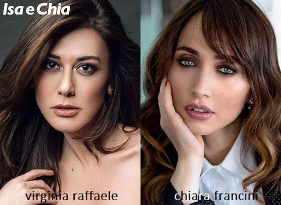Somiglianza tra Virginia Raffaele e Chiara Francini
