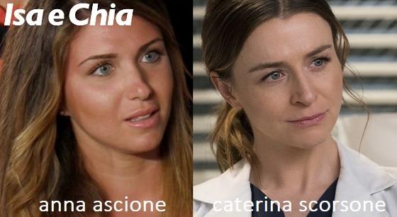 Somiglianza tra Anna Ascione e Caterina Scorsone