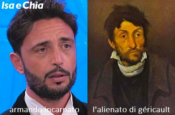 Somiglianza tra Armando Incarnato e l'alienato di Théodore Géricault