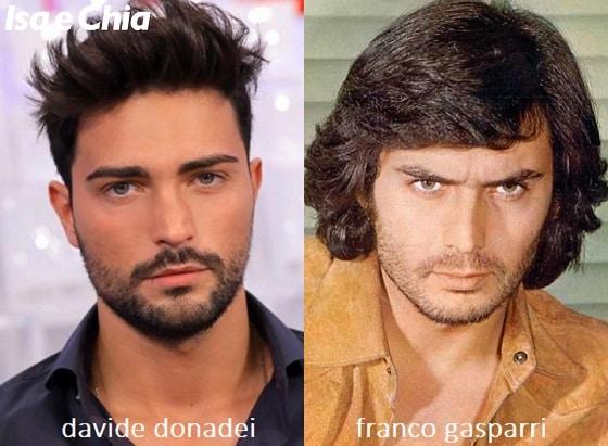 Somiglianza tra Davide Donadei e Franco Gasparri