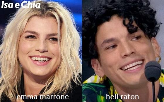 Somiglianza tra Emma Marrone e Hell Raton