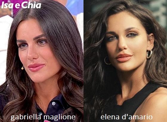 Somiglianza tra Gabriella Maglione e Elena D'Amario