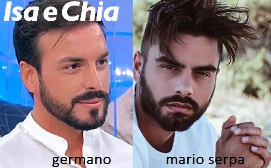 Somiglianza tra Germano e Mario Serpa